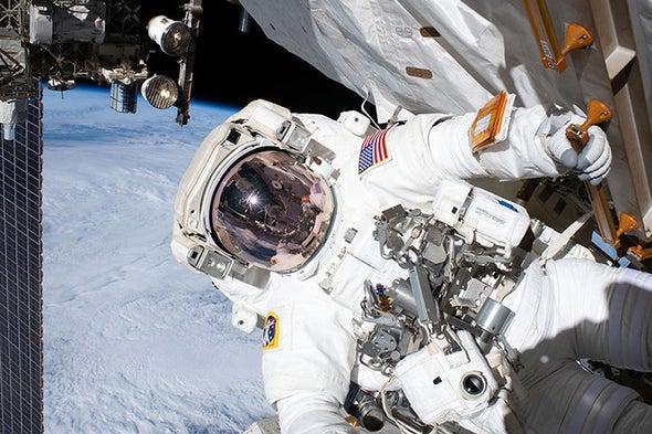 إجراء الإصلاحات الضرورية لتجربة المادة المظلمة على متن محطة الفضاء الدولية
