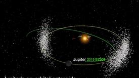 كويكب غريب يشارك المشتري مداره ويعاكس حركته
