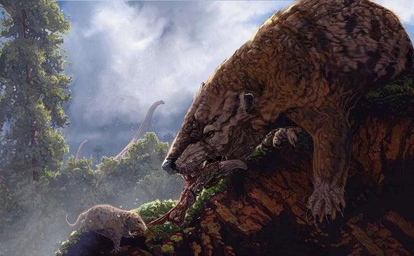 الديناصورات لم تكن المحرك الرئيسي لتقييد تطور الثدييات