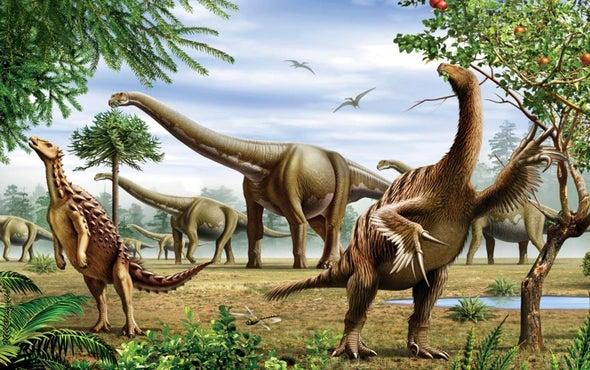 هل سلكت الديناصورات طريق الفناء قبل الارتطام النيزكي؟
