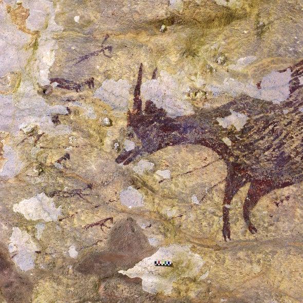 هل هذا الرسم الموجود على جدران أحد الكهوف الأندونيسية يُعد التصوير الأول لقصة خرافية؟