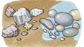 الصخور المتآكلة