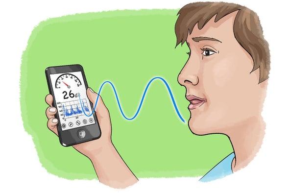 تجربة علمية باستخدام الهاتف الذكي: جهاز قياس الصوت