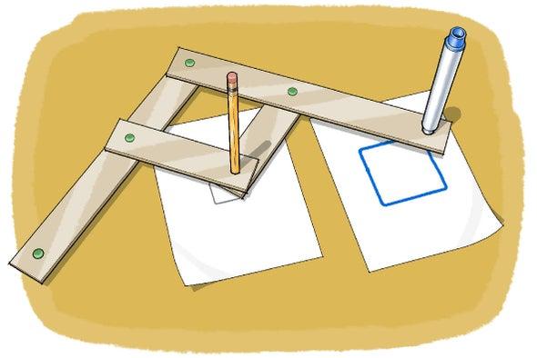انسخ رسوماتك باستعمال آلة من صنع يديك