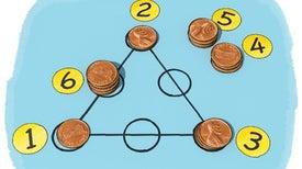 الرياضيات المسلية مع المثلث السحري