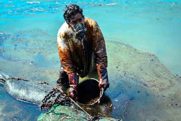سكان موريشيوس يطلقون حملة لإنقاذ الحياة البرية من تسرب النفط