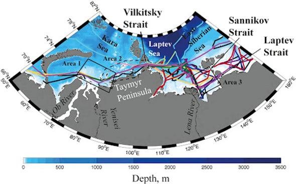 العلماء يرسمون خريطة مسارات أعمدة أنهار المياه العذبة بالمحيط المتجمد الشمالي