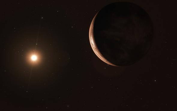 أرض عملاقة مُتجمدة ربما كانت تدور حول نجم برنارد