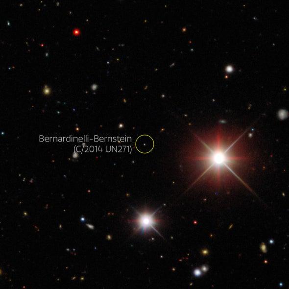علماء الفلك يتحمسون لرصد مذنب عملاق يحلِّق في نظامنا الشمسي