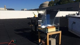 جهاز لإنتاج مياه نقية عن بُعد باستخدام الإشعاع الشمسي