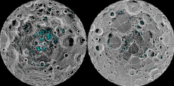 الاصطدامات النيزكية على سطح القمر تطلق أطنانًا من المياه سنويًّا