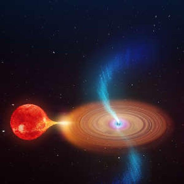 نفثات ضخمة متراقصة تنبعث من ثقب أسود دوار