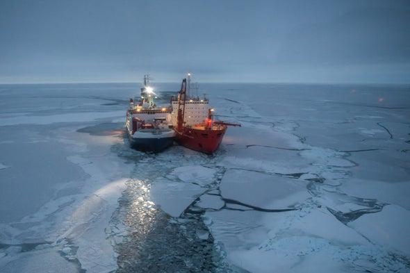 سفينة تجمد نفسها في القطب الشمالي لدراسة تغيُّر المناخ