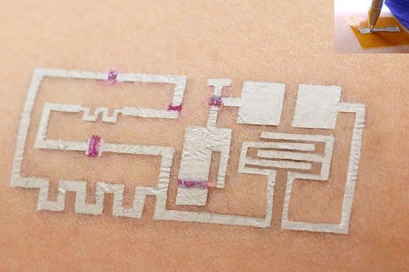 طريقةٌ جديدة بالقلم والحبر ترسم مُستشعِراتٍ للحالة الصحية على الجِلد مباشرة