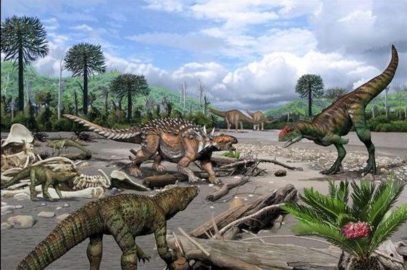 اكتشاف أول تجمع حيوي للديناصورات في «سانتا كروز» الأرجنتينية