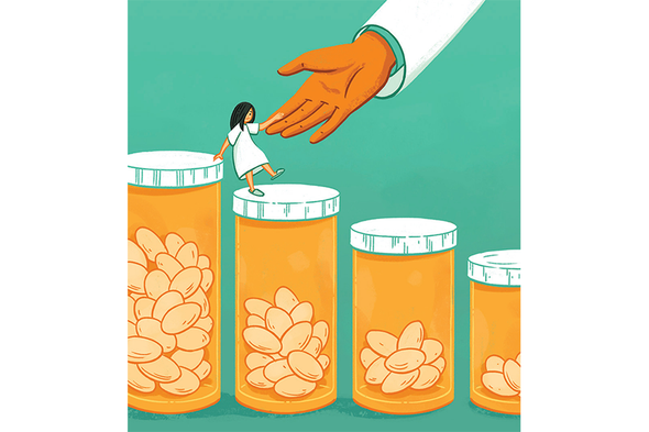 مساعدة المرضى الذين يعانون من الألم على التقليل من تعاطي الأدوية أفيونية المفعول