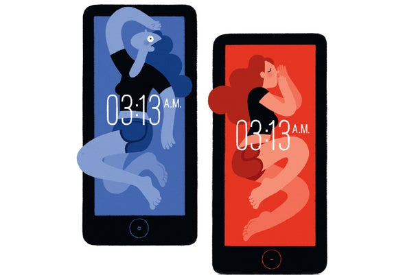 الضوء الأزرق وأزمة النوم