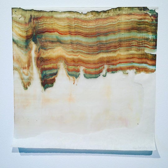 Monotype Encaustic Print by @lauramoriartyrocks