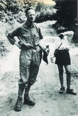 A black and white photograph of André Weil