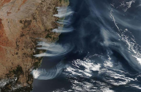 Smoke from Australian fires, December 4, 2019
