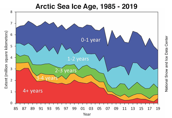 Arctic sea ice age
