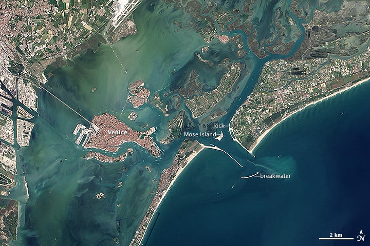 Venice from space