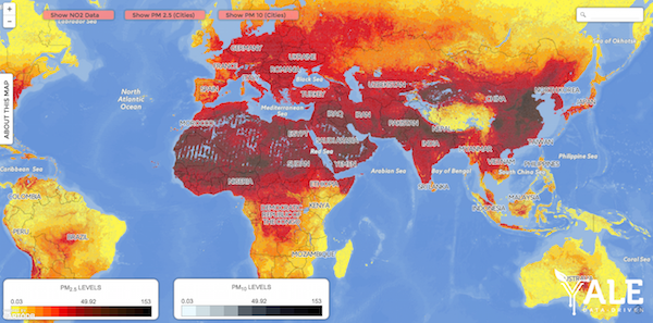 Air Map Of The World.A New Air Pollution Database Is Good But Imperfect Scientific