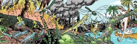 Panel from Book 4: Carboniferous of Estrella Vega's Paleozoic Series