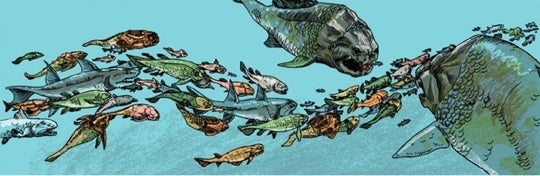 Panel from Book 3: Devonian of Estrella Vega's Paleozoic Series