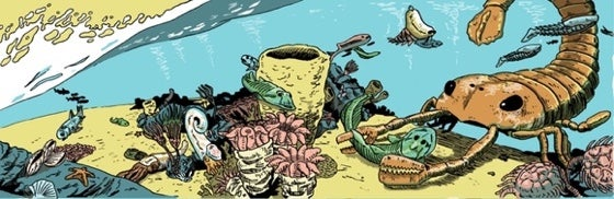 Panel from Book 2 of Estrella Vega's Paleozoic Series