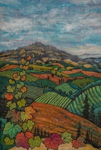 Linda Morand quilt: View Into the Autumn Valley
