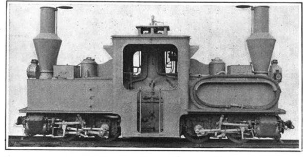 Miniature Locomotive for War Work, 1915