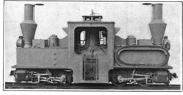 Miniature Locomotive for War Work, 1915