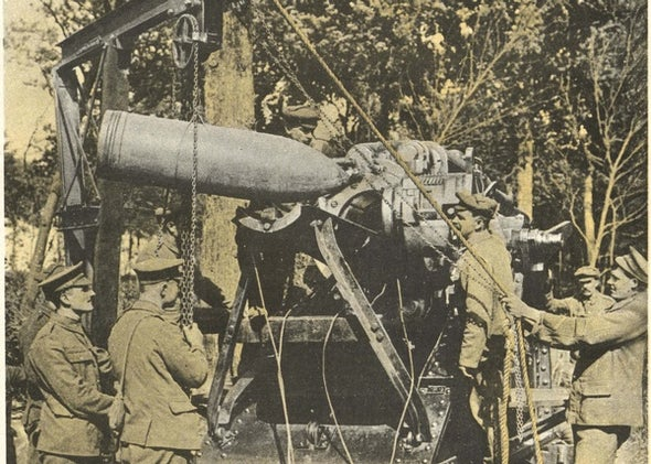 Artillery on the Somme, 1916