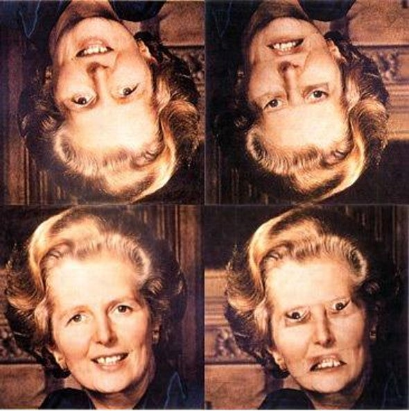 The Neural Seat of the Thatcher Face Illusion