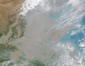 China enveloped in smog, as seen from space. Again.