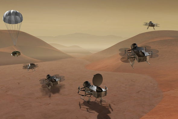 Could a Space Helicopter Find Life on Saturn's Moon Titan?