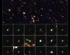 Hubble Unearths Distant Colourful Dwarf Galaxies