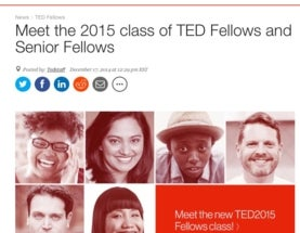 Wordless Wednesday: 2015 TED Fellows named