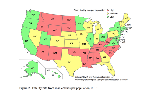 Report: 1.3 Percent of U.S. Fatalities Due to Road Crashes in 2013