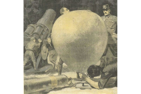 Measuring the Wind for Artillery, 1916