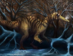 Look into the Eyes: paleoart by Stevie Moore