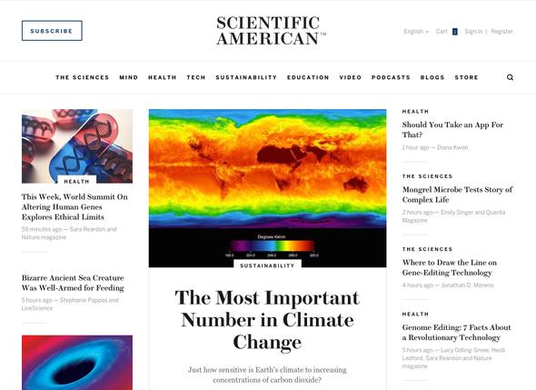 Welcome to the New <em>ScientificAmerican.com</em>