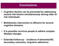 Gold Standard Trial Affirms Role of Diet, Exercise and Such to Prevent Dementia