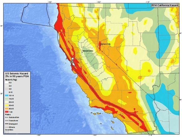 Map Of California Quake.Is California About To Be Destroyed By A Killer Quake Scientific