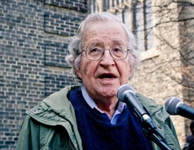 "Noam Chomsky Calls Trump and Republican Allies ""Criminally Insane"""