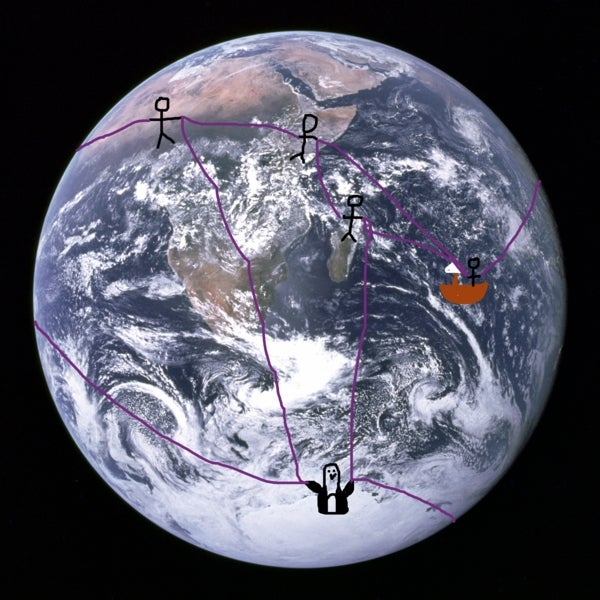 An Impractical, Ahistorical, Mathematically Elegant Way to Figure out Earth Is a Sphere