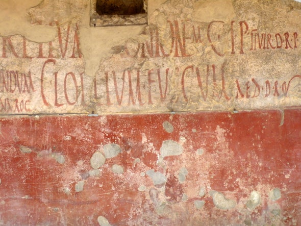 Post No Bills: The Ancient Romans Had a Version of Lawn Signs, Too