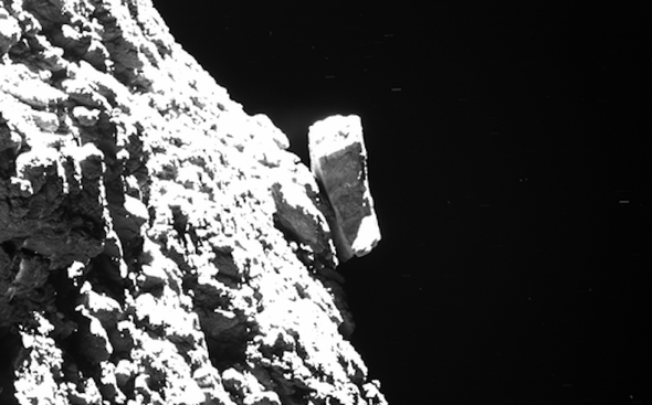 Balancing Rocks and Philae's Wave