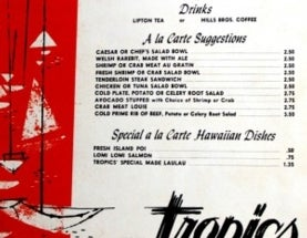 Souvenir Seafood Menus Offer Glimpse into Hawaii's Oceans of Old